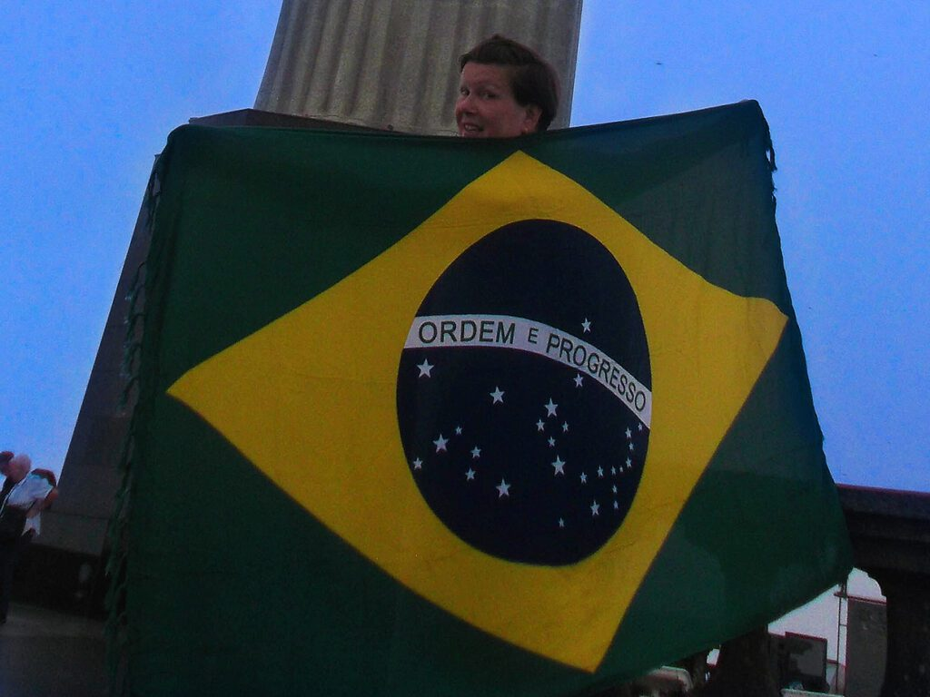 Renata Green in Brazil when travelling the South