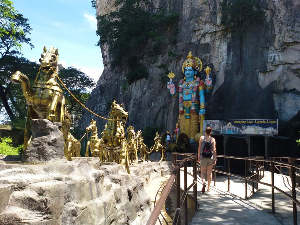 Entrance to the Ramayana Cave at the Batu Caves outside of Kuala Lumpur