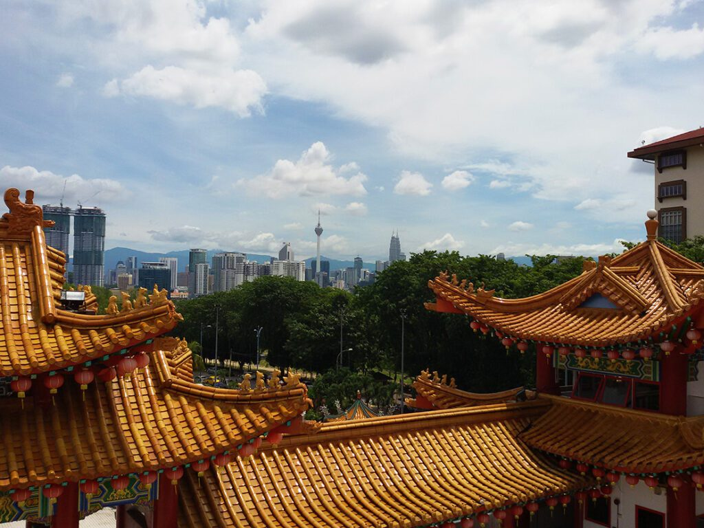 View over the Thean Hou Temple.