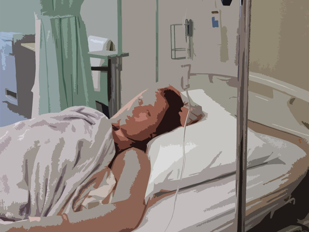 Woman in a hospital bed, illustrating World's Most Complete Travel Information