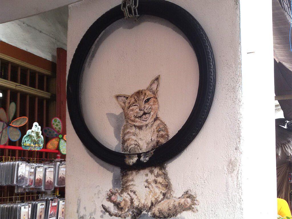 Streetart in  George Town on Pulau Penang
