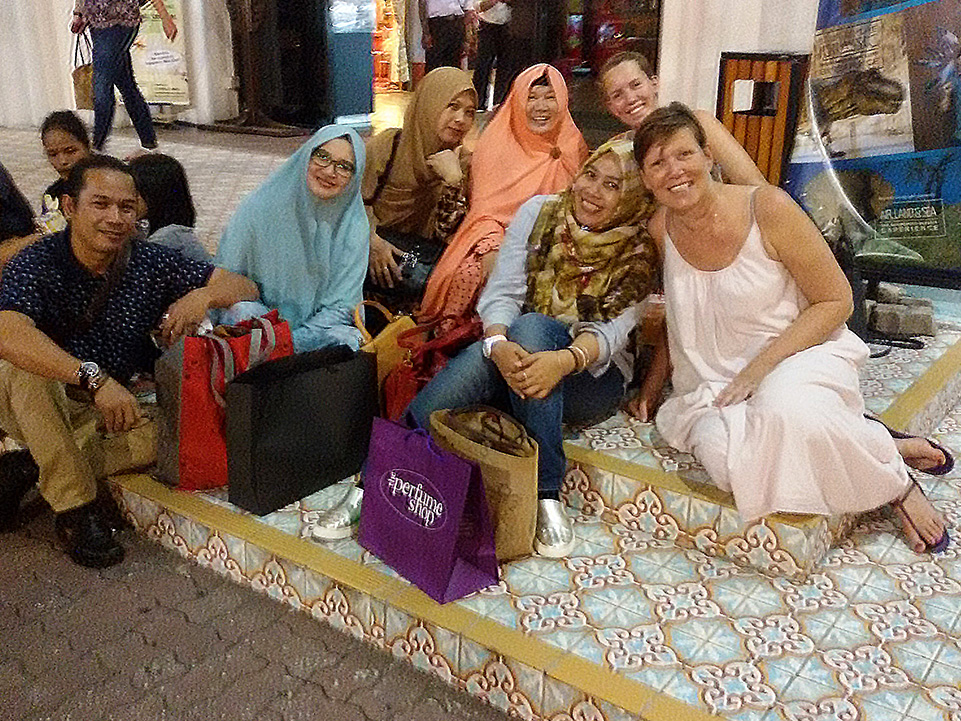 Tourists from Indonesia in Kuala Lumpur