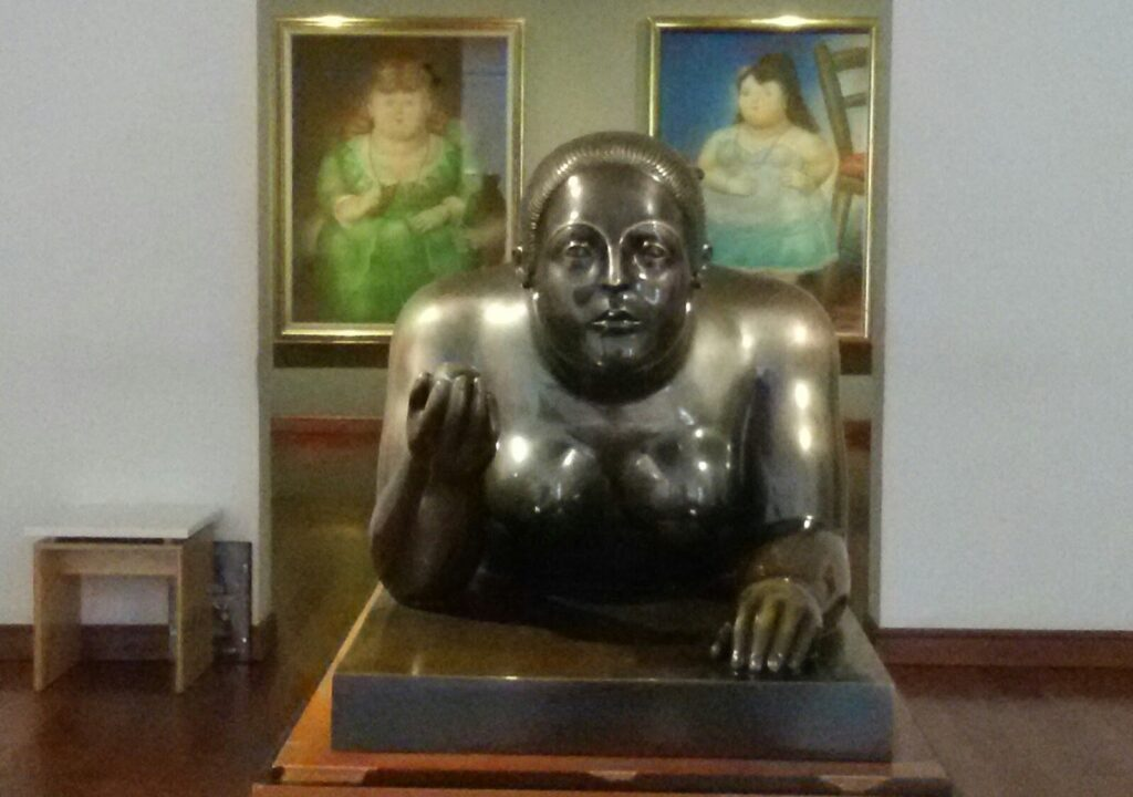 Sculptures and Paintings by Fernando Botero at the Museo del Banco in Bogotá