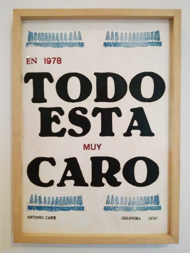 Antonio Caro: Todo esta muy caro