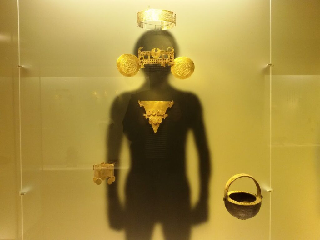 At the Goldmuseum in Bogotá, Colombia