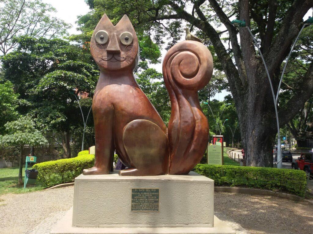 Hernando Tejada's El Gato del Rio. The cat park is one of Cali's must-see places.