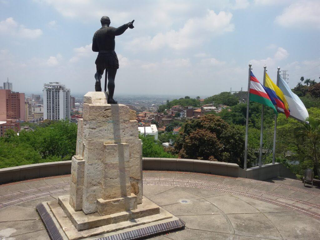 Statue of Sebastian de Belalcazar in Cali, Colombia