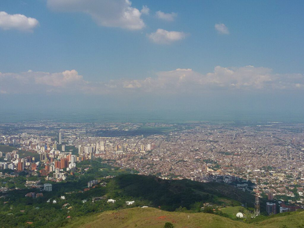 Panoramic View of Cali, Colombia