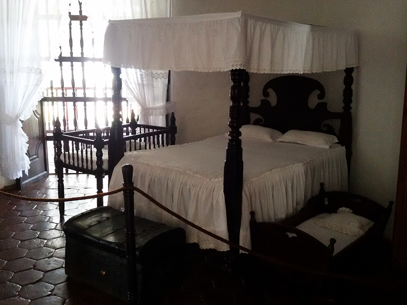 Colonial furniture at the hacienda El Paraiso, Colombia