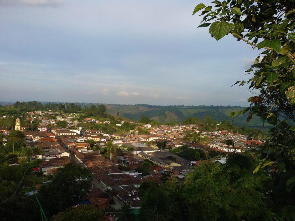 View of Salento Colombia's Coffee Region