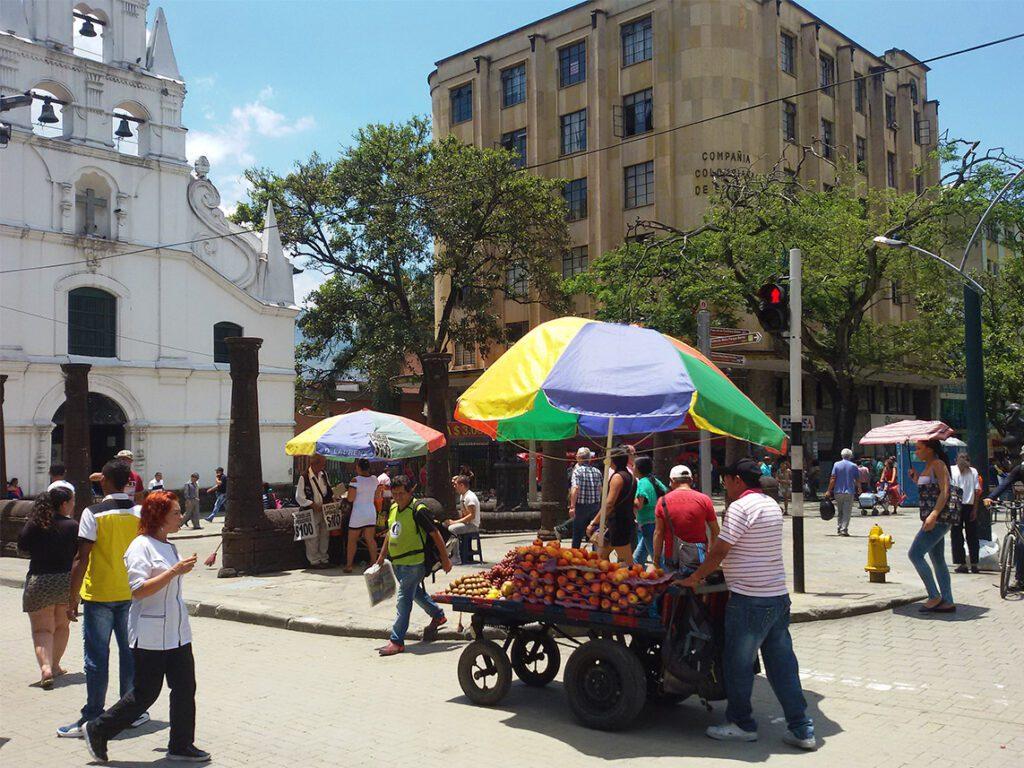 Parque Botero between the Museo de Antioquia and the Palacio de la Cultura Rafael Uribe Uribe in Medellín