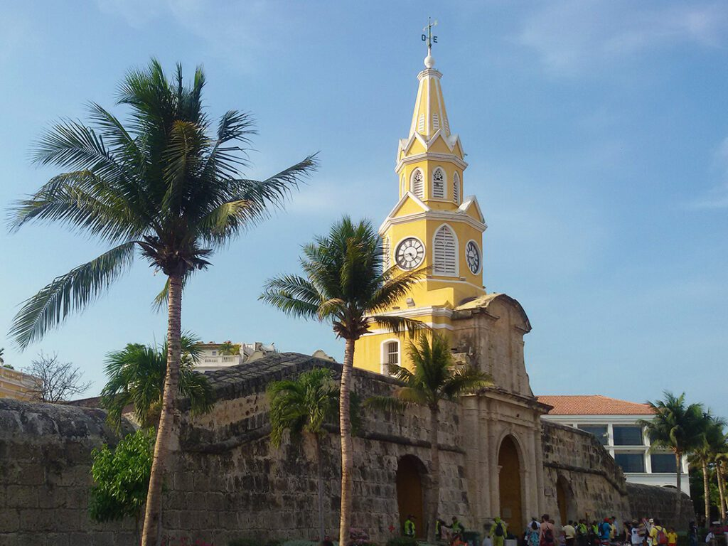 the bell tower in Cartagena