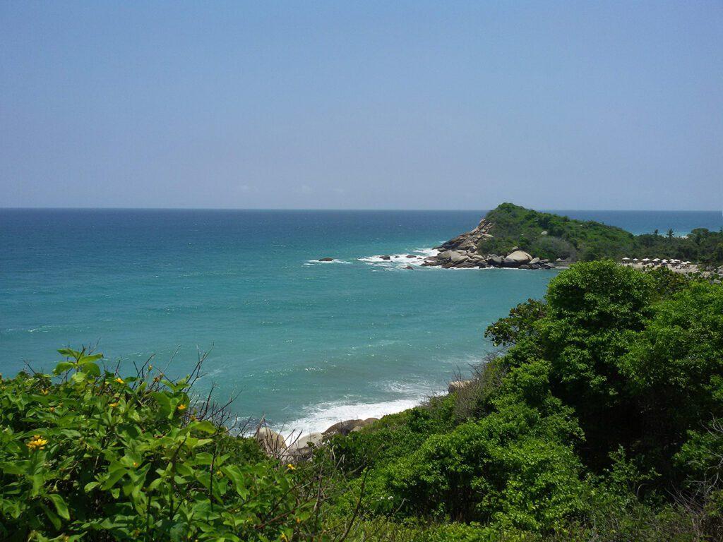 View of the Ocean at Parque Tayrona