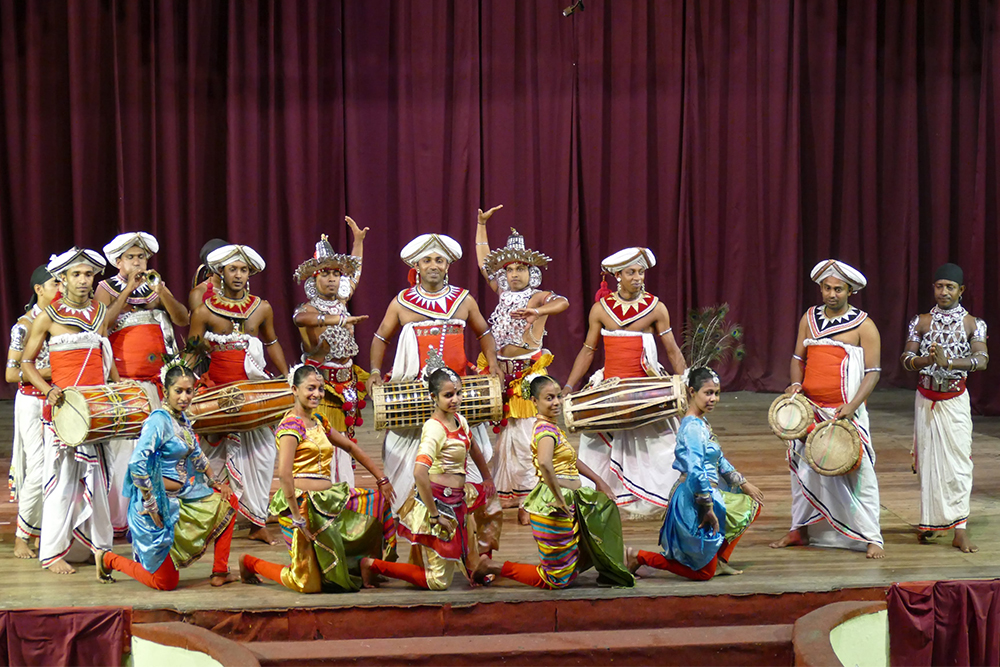 The entire dance company in Kandy