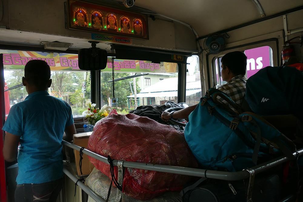 Bus going from Nuwara Eliya to Uduwalawe
