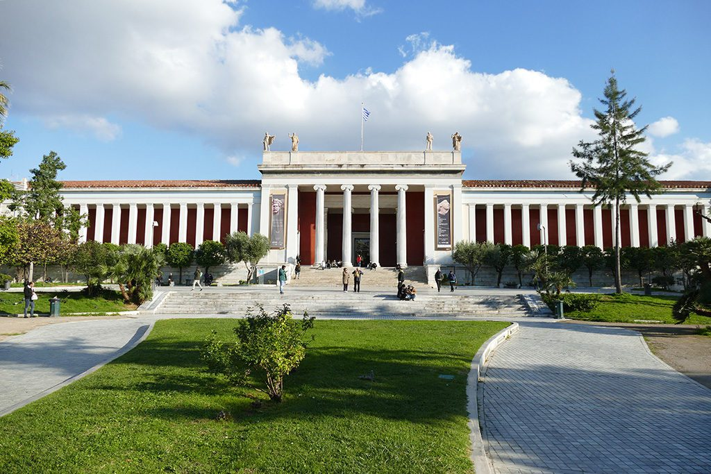 The stately Archaeological Museum in Athens