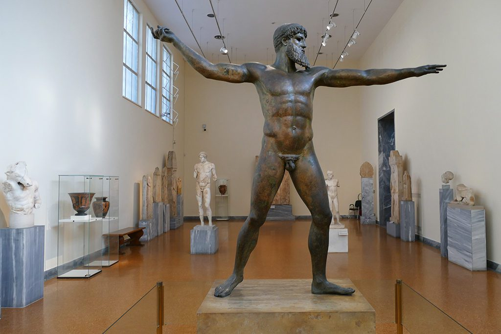 Statue of Zeus or Poseidon at the Archaeological Museum in Athens