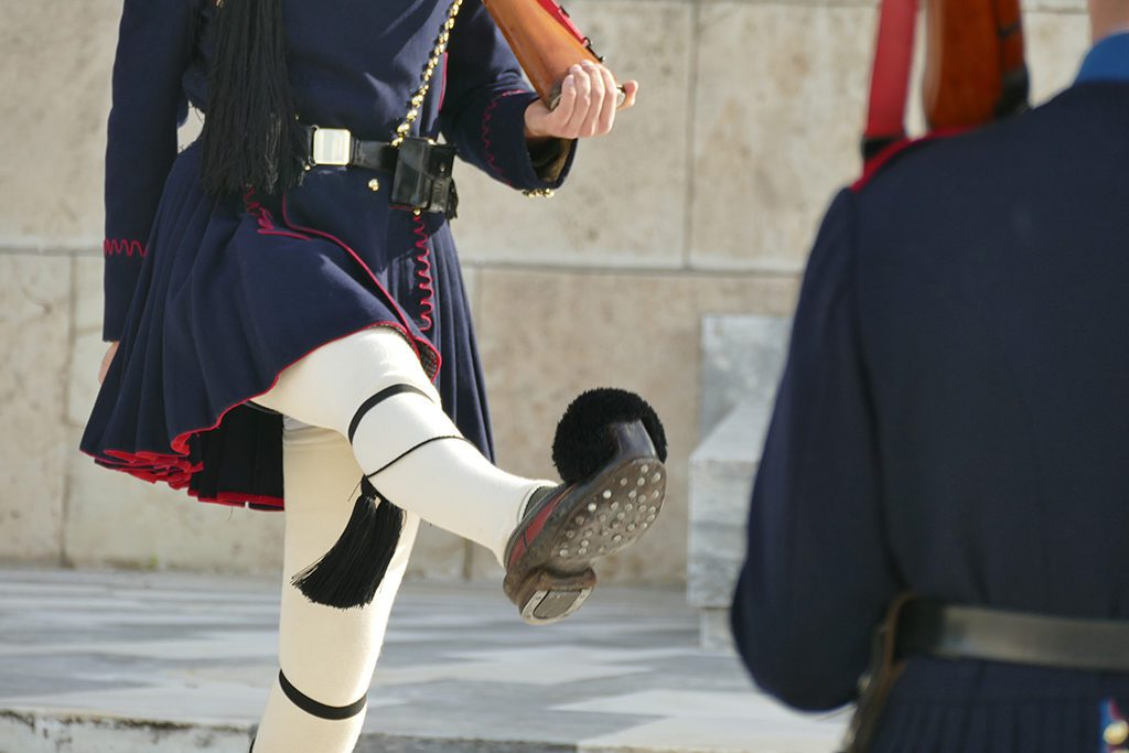 Guard in front of the parliament in Athens