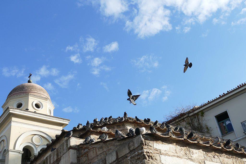 The Church of the Pantanassa on Monastiraki Square in Athens