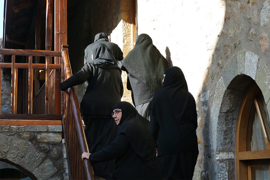 Nuns at the St. Stephens Monastery