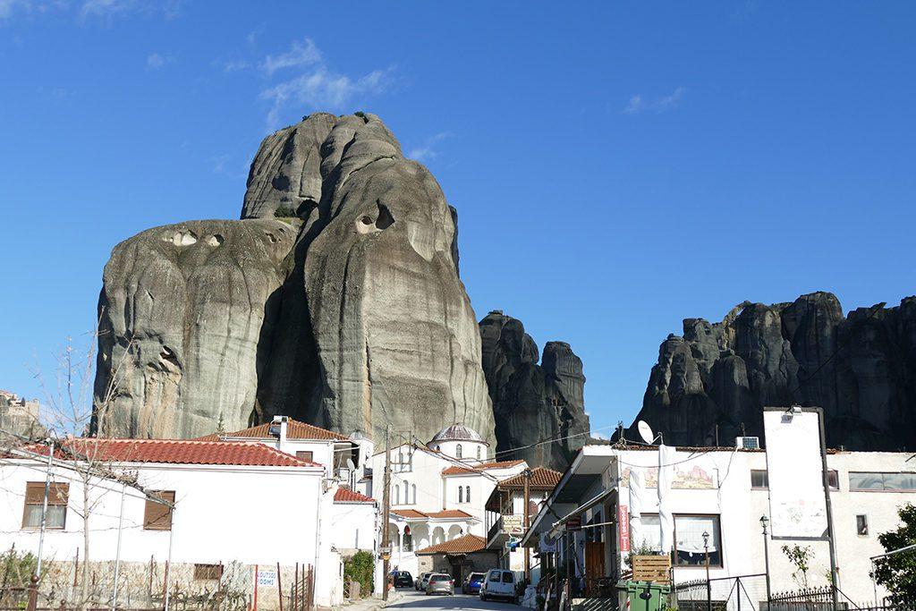 Village of Kastraki below the Monastry of Meteora