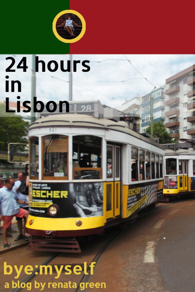 Pinnable Picture for the Post on 24 hours in Lisbon