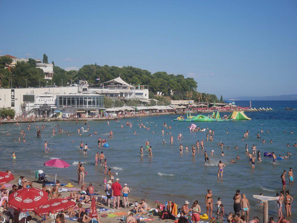 Beach of Bačvice in Split, Croatia