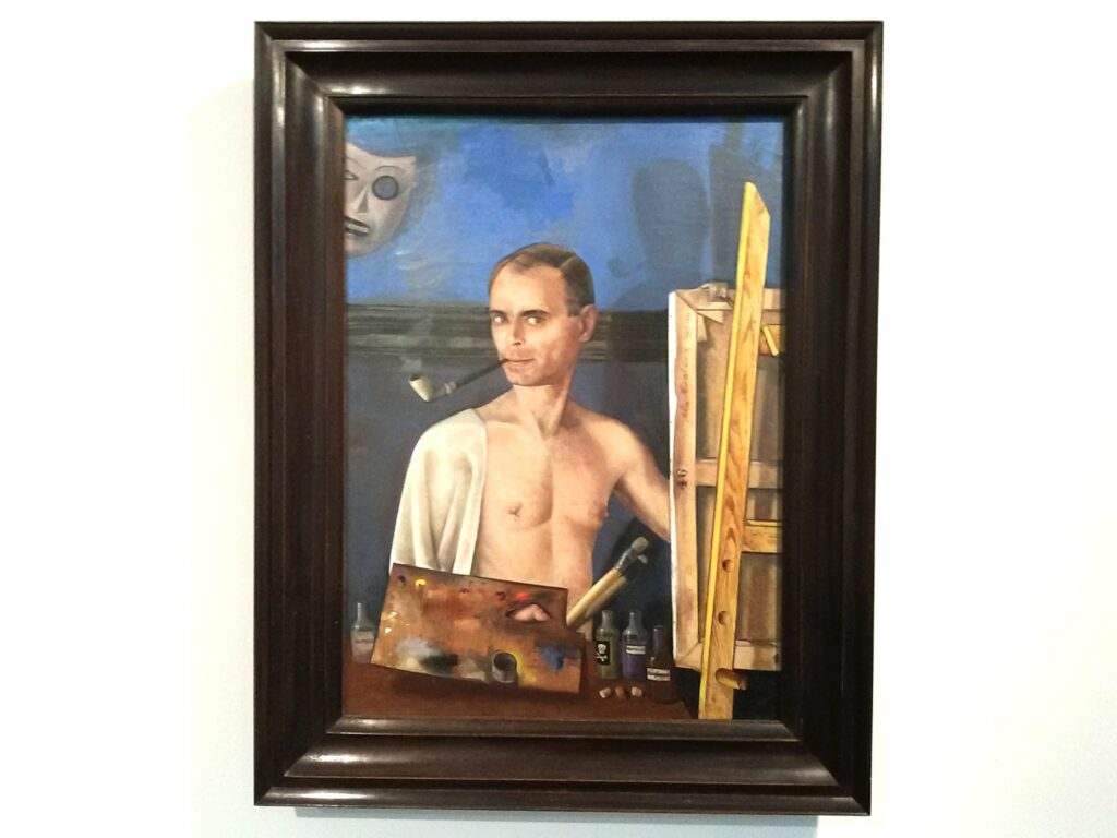 Felix Nussbaum: Self-portrait with easel