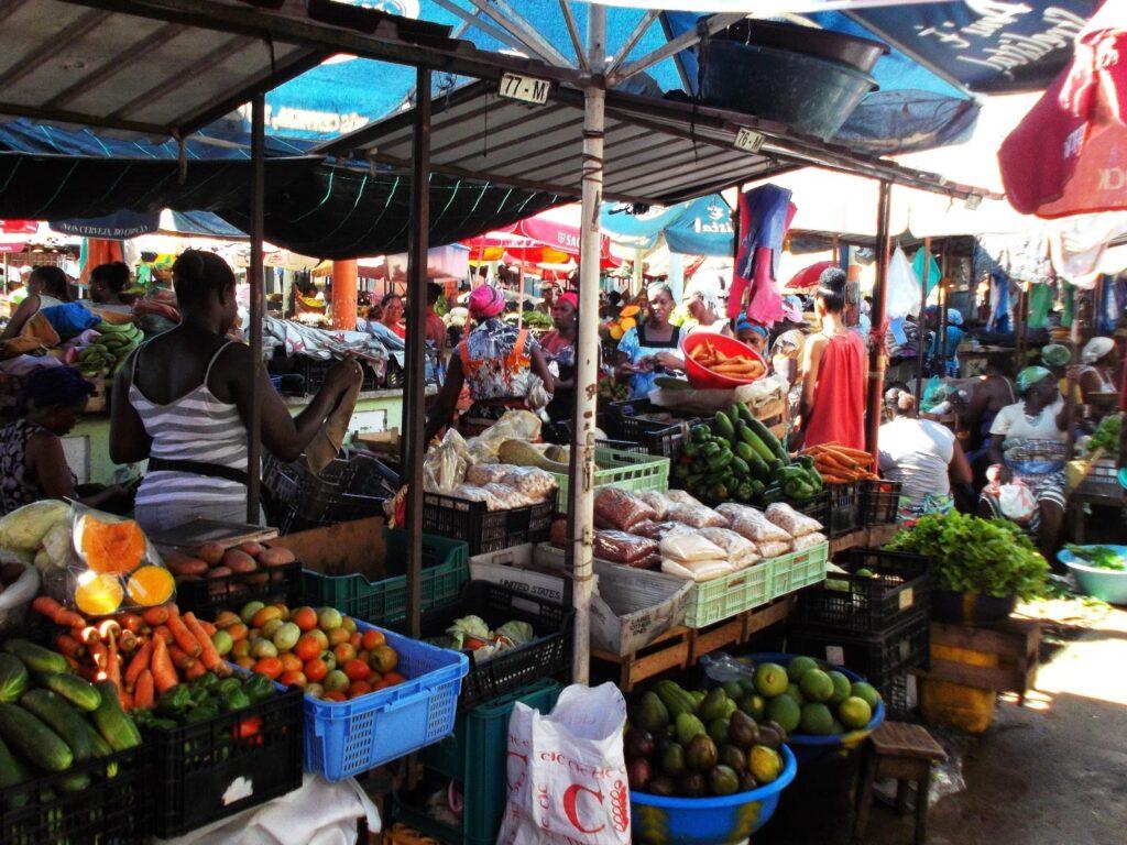 Mercado Municipal on the Platô on the Island of Santiago.