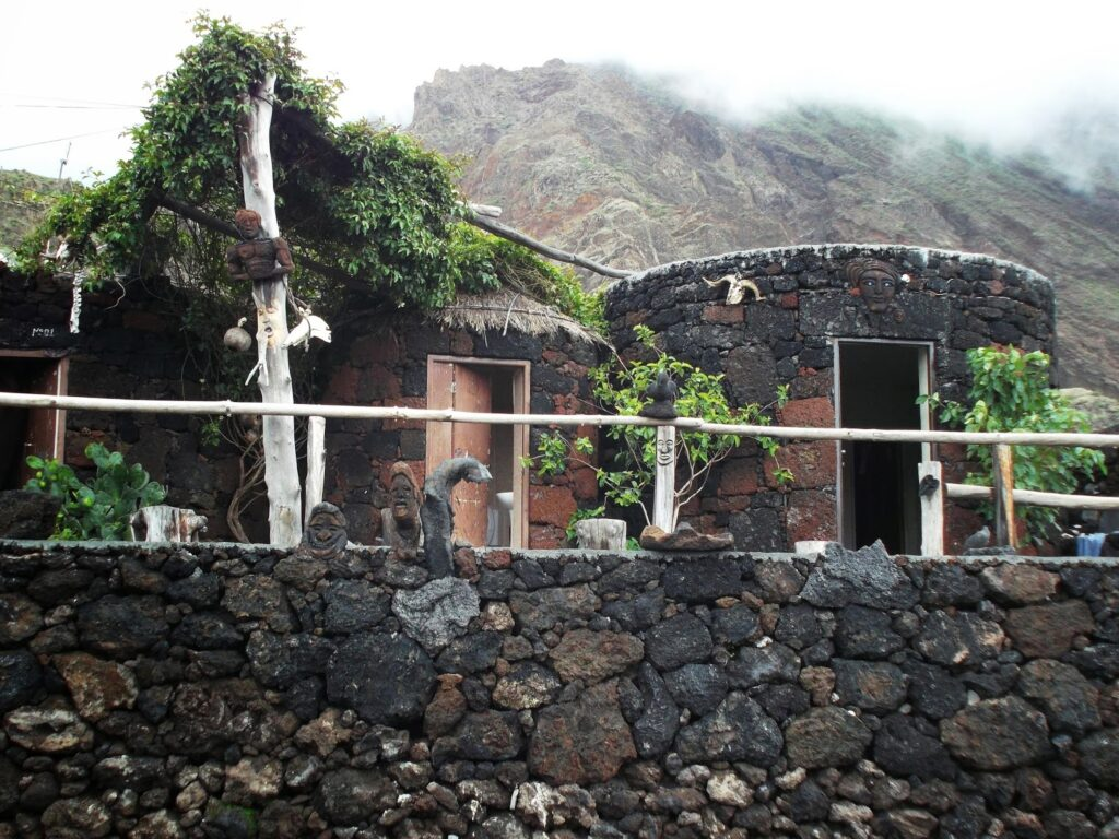 Houses made of Lava on the Island of Fogo