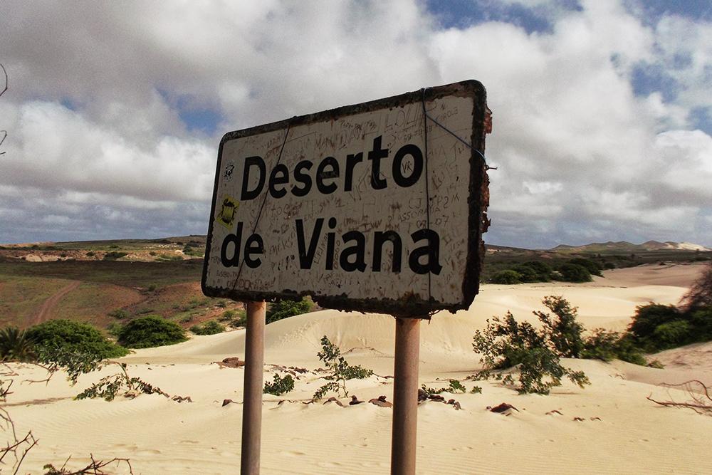 Sign Deserto de Viana.