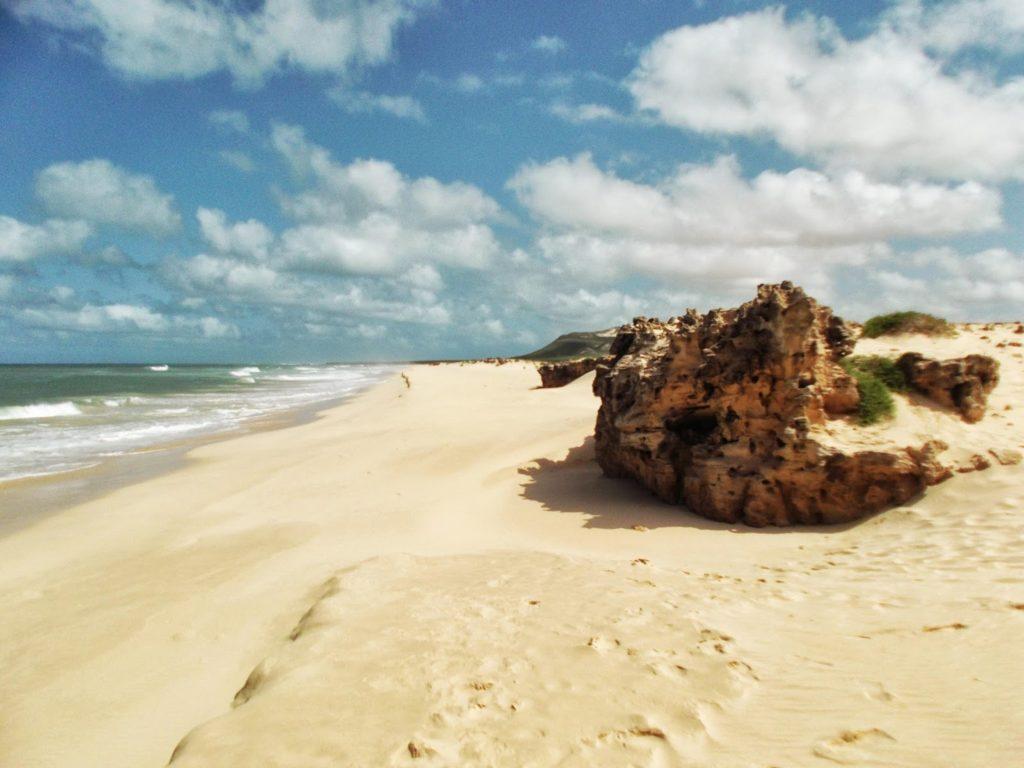 Sand on the Praia da Varadinha.