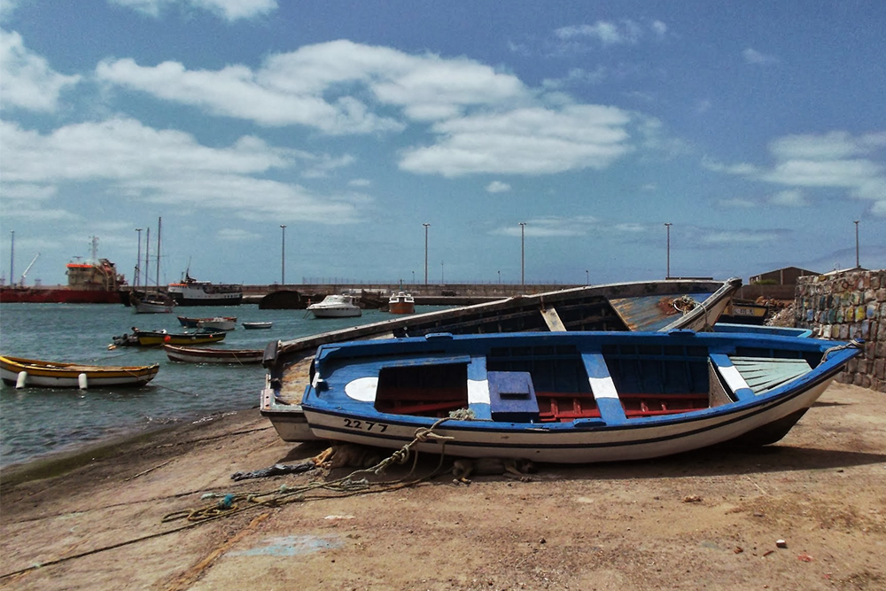 Boats on the Island of Sal