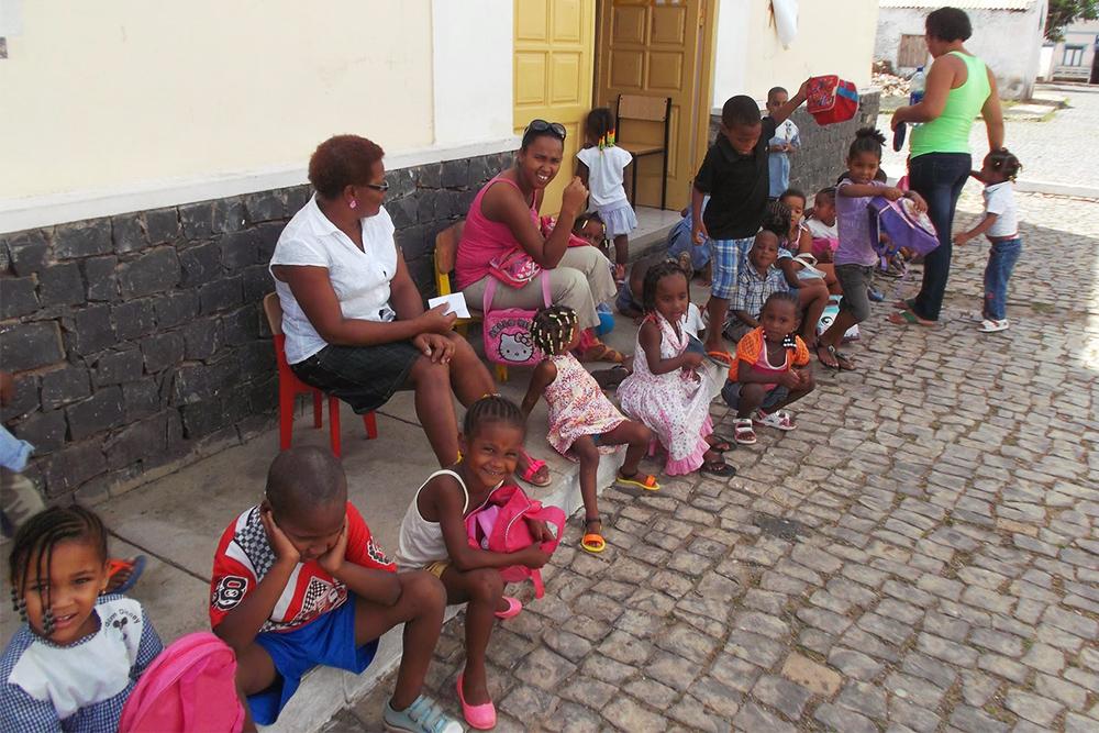 School Kids on the Island of Sal