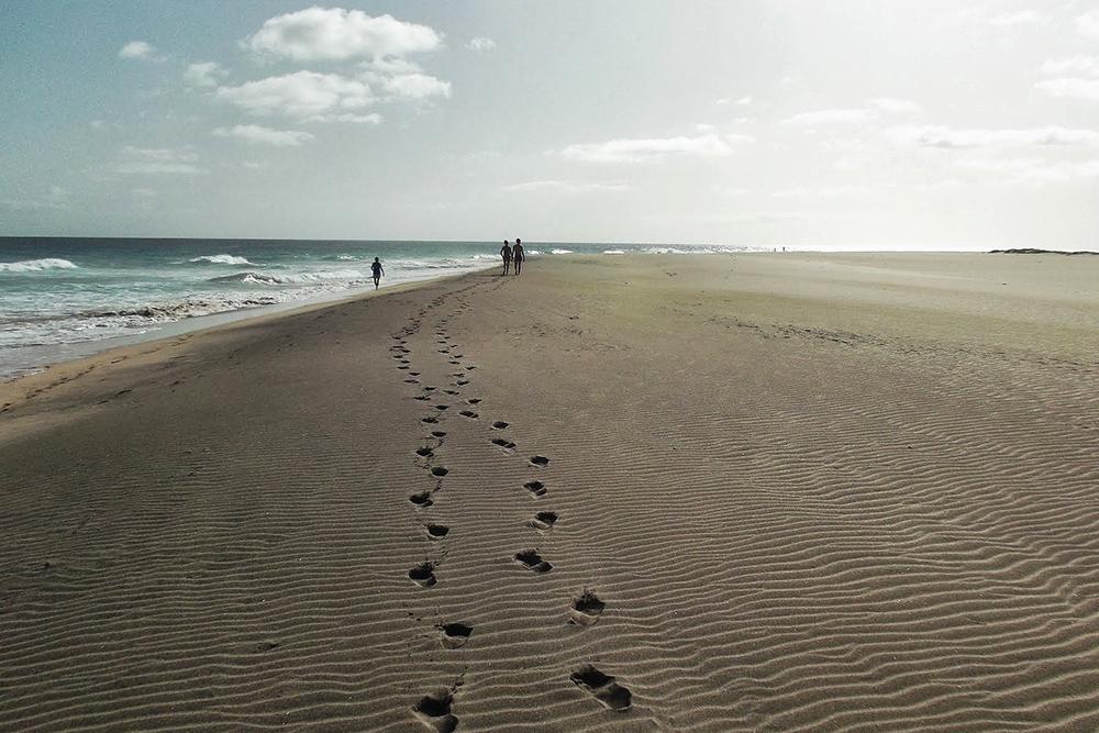 A beach on Sal, an island that made it from Salt Mine to Ocean Paradise