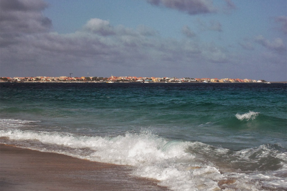 View of Santa Maria from the beach on Sal, an island that made it from Salt Mine to Ocean Paradise