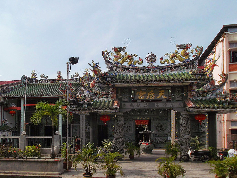 The Haina Temple Thean Hou on Lebuh Muntri.