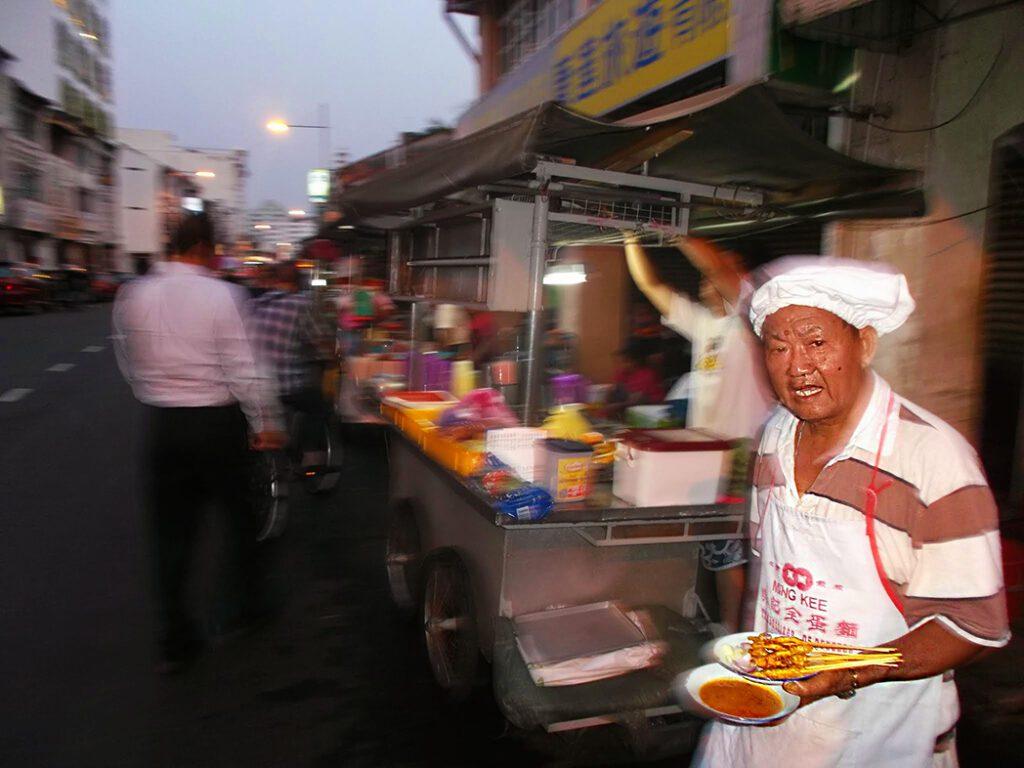 Streetfood in  George Town on Pulau Penang