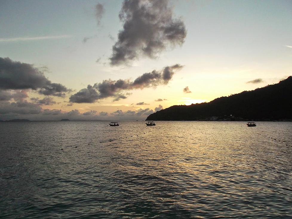 sunset over pulau perhentian besar malaysia asia