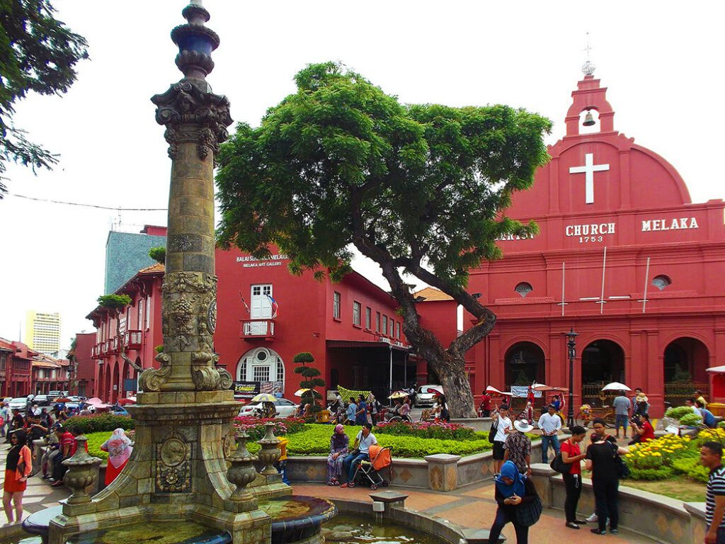 Christ Church, an Anglican House of Worship, the oldest Protestant church in Malaysia.