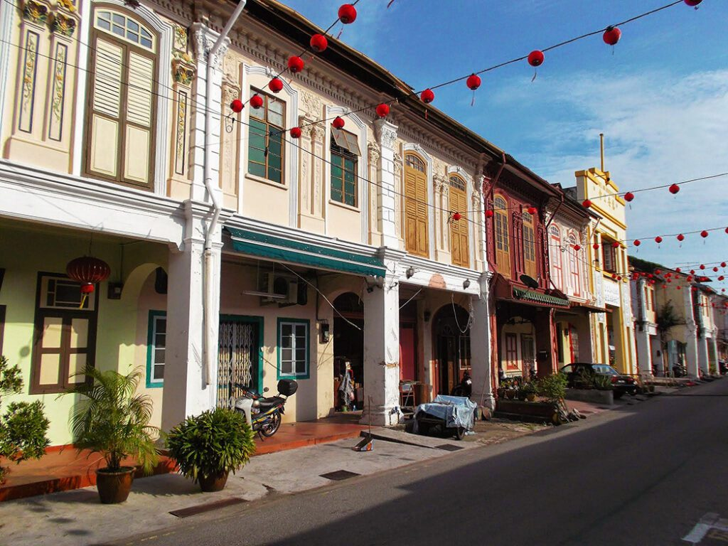 Colonial Chinese Shop Houses im Malacca