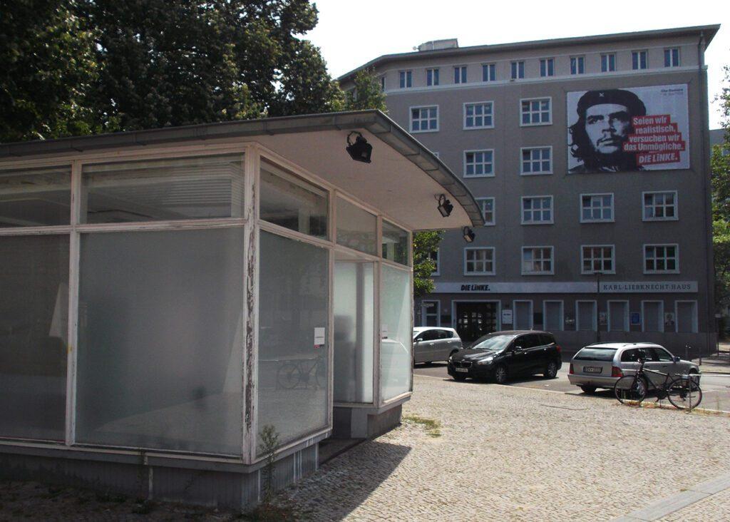 Karl Liebknecht House at the Rosa Luxemburg Platz in Berlin