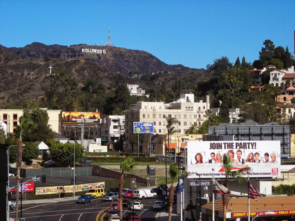 Los Angeles with the iconic Hollywood Sign that you have to see even if you have only 24 hours in the city.