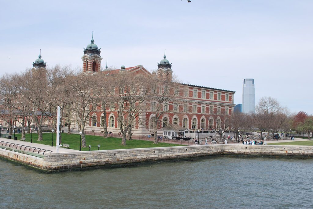 Ellis Island in New York, USA, first stop of emigrants coming to America - remembering Migration from North German Ports to the Americas