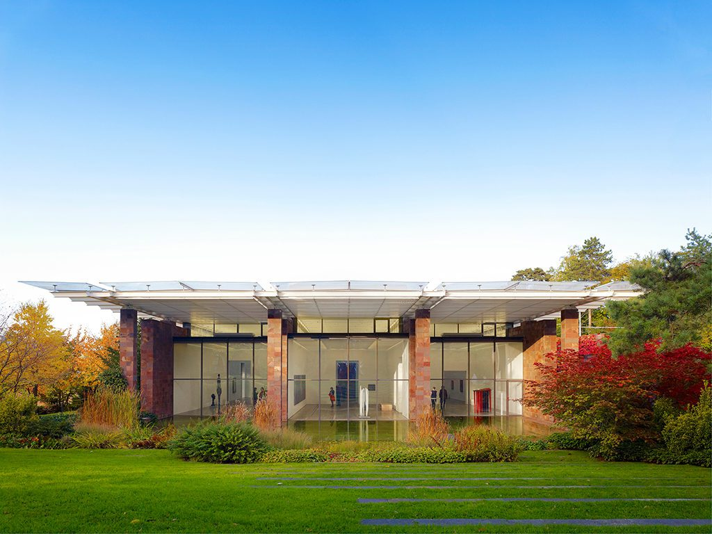 Building of the Fondation Beyeler in Riehen in the outskirts of Basel