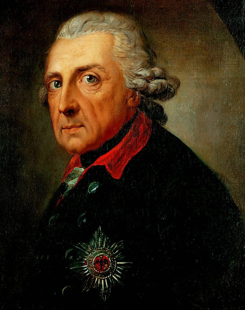 Frederick II at the age of 68 painted by Anton Graff. One of the Frederick's that made in Potsdam a small town great