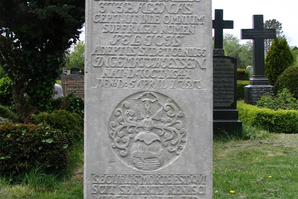 Grave of Matthias Petersen on the Island of Föhr