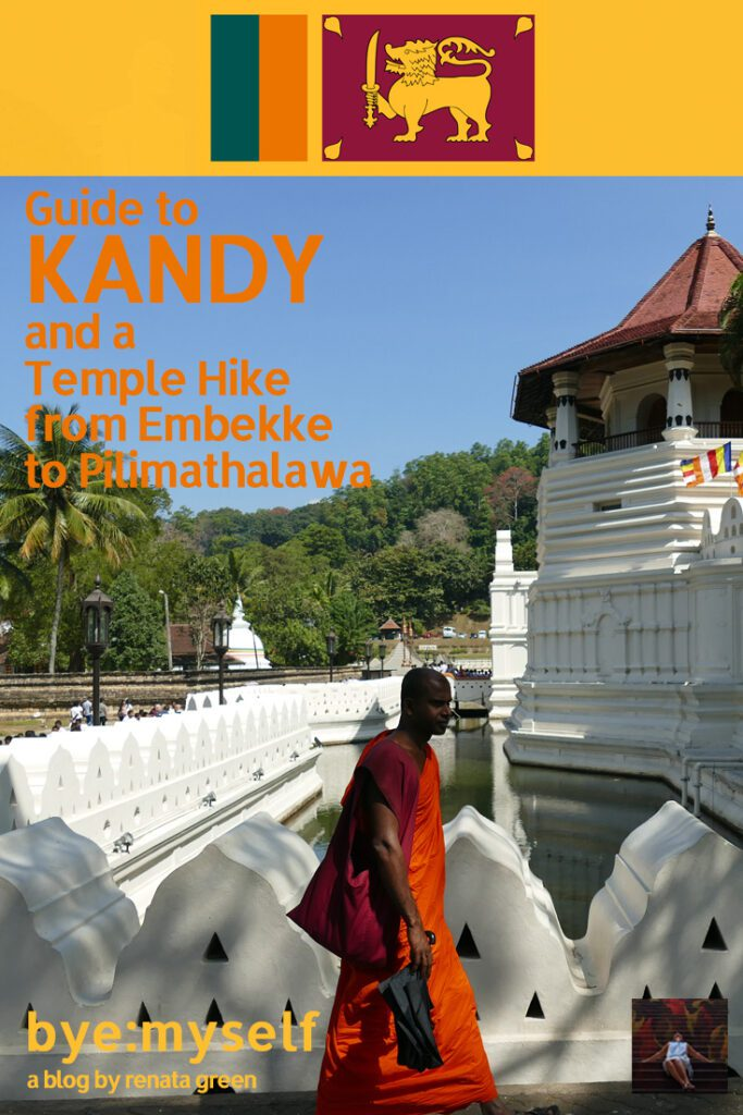 Pinnable Picture on post on Kandy and an inspiring Temple Hike from Embekke to Pilimathalawa