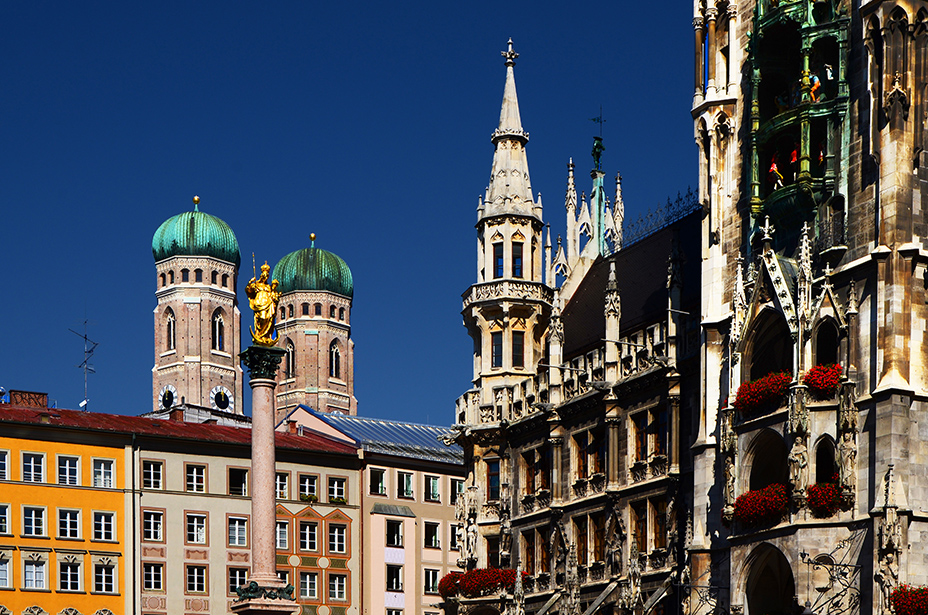 Marienplatz in Munich. A must see during 24 hours in Munich.