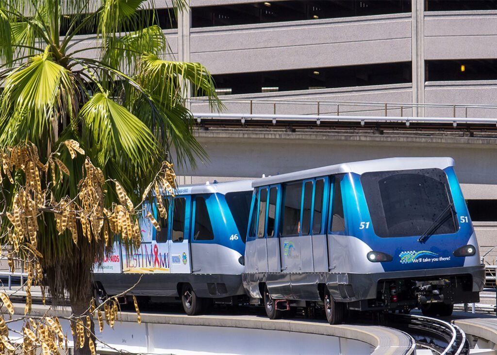 Miami Metrorail, you should take ar ride during 24 hours in Miami